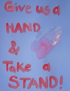 Pro Life Craft for Kids: Give us a Hand.....