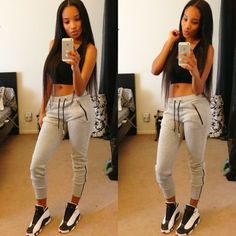 swag girls outfits with jordans - Google Search