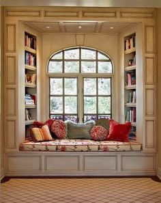 Here's a great personal retreat for book lovers! What would you change to make this space yours? For more inspiration view the full album on our site at http://theownerbuildernetwork.co/ideas-for-your-rooms/day-beds-and-reading-nooks-gallery/reading-nooks/