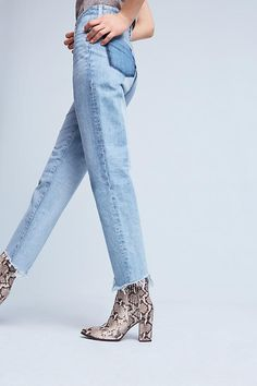 Slide View: 2: AG Phoebe Ultra High-Rise Straight Jeans
