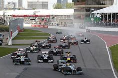 Start, Circuit Gilles Villeneuve, Montreal, 2013