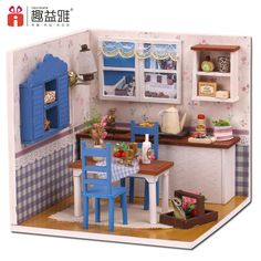 Miniature Doll House DIY Handmade Wood Combination Warm Home Dollhouse Model Kit With Furniture Kid Birthday *** Check this awesome product by going to the link at the image. (This is an affiliate link) Wooden Dollhouse Kits, Dollhouse Toys, Dollhouse Miniatures, Led Furniture, Furniture Covers, Barbie Furniture, Miniature Rooms, Miniature Furniture, Toy House