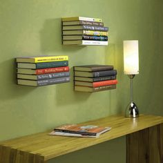 Decorating , 33 Amazing and Creative Bookshelves : Creative Bookshelves Invisible Bookshelf