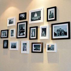 Die post verdickte Wand Fotos 15 Rahmen aus Holz der kreativen bilderrahmen Fotos bilderrahmen Mauer Mauer Mauer zusammen.