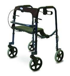Invacare 68100 Adult Rollite Rollator with 8 Inch Spoked Case
