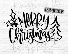 Merry Christmas SVG Christmas SVG png dxf clip art Hand Lettered and Hand Drawn Cut File Holiday SVG Naughty Christmas, Christmas Svg, Christmas Printables, Xmas, Christmas Stuff, Bullet Journal Christmas, Craft Presents, Cricut Creations, Christmas Design