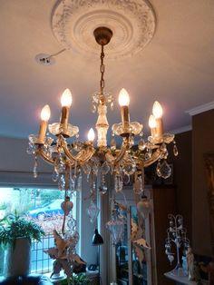 Decorated chandelier.