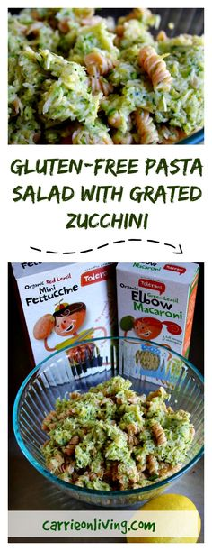 Sharing a recipe and giveaway for this Gluten-Free Lentil-Based Pasta Salad with Zucchini on Carrie on Living | http://www.carrieonliving.com?utm_content=bufferf7fa8&utm_medium=social&utm_source=pinterest.com&utm_campaign=buffer
