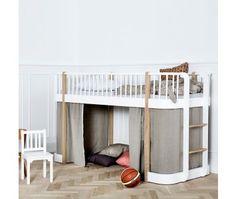 Oliver Furniture Vorhang für Etagenbett + halbhohes Hochbett, Wood Collection