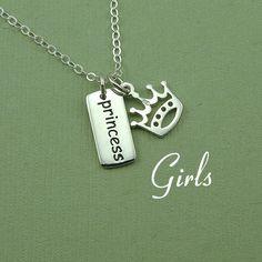 Gils Princess Crown Necklace  $36.00, via Etsy.