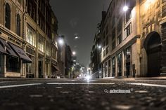 Empty Street in a Night -  / by Akın Can Şenol is licensed under a Creative Commons Attribution-NonCommercial 4.0 International License.