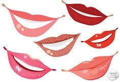 Bocas femeninas en vector (Female Mouths in vector)
