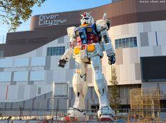 Life-size Statue RX-78-2 Gundam, Diver City, Odaiba, Tokyo