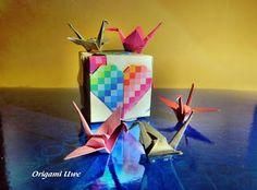 Origami, Fleurogami und Sterne: Crane in Love