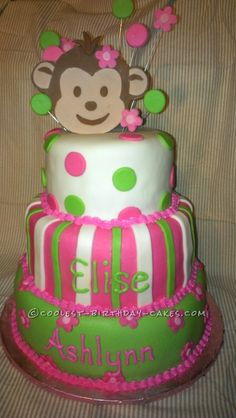 Coolest Monkey Cake... This website is the Pinterest of birthday cake ideas