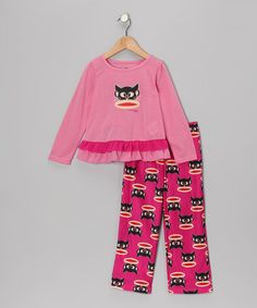 Take a look at this Paul Frank Pink Monkey Cat Pajama Set - Girls by Paul Frank on #zulily today!