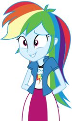 Size: 3000x5013   Tagged: absurd res, artist:uponia, clothes, cute, dashabetes, equestria girls, female, movie magic, rainbow dash, safe, simple background, skirt, solo, spoiler:eqg specials, .svg available, transparent background, unsure, vector
