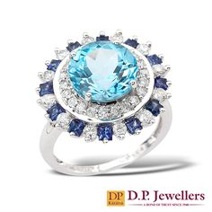 Lex /& Lu Sterling Silver Created Blue Sapphire Birthstone Vibrant Pendant-Prime