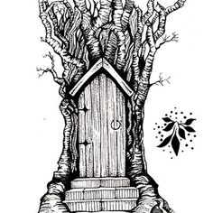 This is a lovely detailed image, it comes with a separate leaf stamp to build up the tree if you should desire.  The Fairy Door size is 8 cm x 5.5 cm.