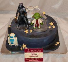 Детский торт на тему звездных войн.Вес 4 кг.