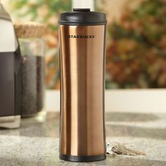 Stainless Steel Starbucks® Tumbler - Brown-  This is the best coffee mug ever.