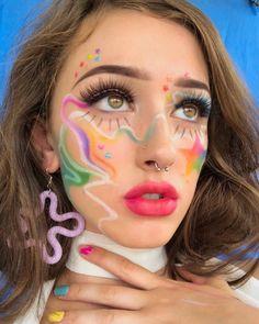 🐉Purity 💫 Inspirations for this look are tagged Makeup Art, Eye Makeup, Makeup Inspo, Makeup Inspiration, Harajuku Makeup, Mauve Makeup, Alternative Makeup, Homecoming Makeup, Makeup Looks