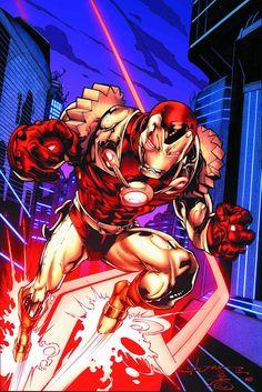 Thunderbolts #8 (Many Armors Variant) by Larry Stroman