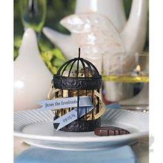 Miniature Classic Round Decorative Birdcages - Mini Bird Cage Favor. perfect for outdoor #weddings and garden #parties #koyal