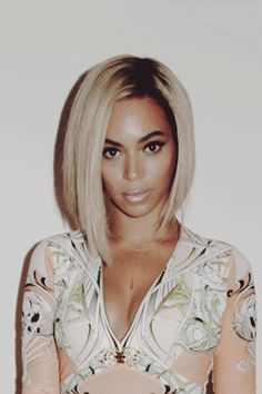 in love with beyonce's new hair! #beyonce #shorthair #celeb