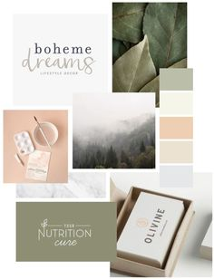 Nicole Nutrition - Brand Identity — Gretchen Kamp Soft peach and green mood board, natural by Gretchen Kamp & Co.Lia Nicole Nutrition - Brand Identity — Gretchen Kamp Soft peach and green mood board, natural by Gretchen Kamp & Co. Coperate Design, Logo Design, Brand Identity Design, Graphic Design, Brand Design, Corporate Branding, Business Branding, Logo Branding, Peach And Green