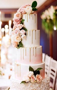 Pink Wedding Cakes - [tps_header] Having a gorgeous and sweet treat to celebrate your wedding day is one of those quintessential things that most brides and grooms are excited about. Check out our best wedding cake ideas to get inspiratio. Elegant Wedding Cakes, Beautiful Wedding Cakes, Wedding Cake Designs, Beautiful Cakes, Perfect Wedding, Dream Wedding, Trendy Wedding, Cake Wedding, Rustic Wedding