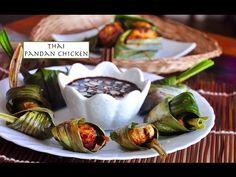 Thai Pandan Chicken Recipe | Gai Hor Bai Toey | ไก่ห่อใบเตย | Recipes 'R' Simple - YouTube