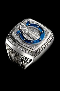 Super Bowl rings: Check out the championship bling from every winner Indianapolis Colts, Cincinnati Bengals, Nfl Championship Rings, Colts Super Bowl, Super Bowl Rings, Nfl Fans, Peyton Manning, Nfl Cheerleaders, Houston Texans