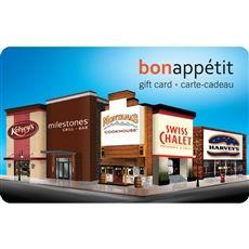 Bon Appétit Gift Card® by Cara Group of Restaurants