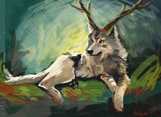 wolf+with+antlers+drawing   wolf with antlers deer by Naokohoma on DeviantArt