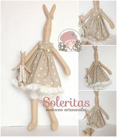 Soleritas Muñecas Artesanales: Conejita de tela