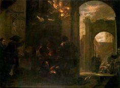 Trance de San Ignacio en el Hospital de Manresa, óleo de Juan De Valdés Leal (1622-1690, Spain)