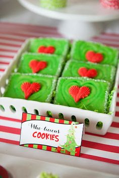The Carver Crew: Happy Who-lidays Giveaway ~ Very Grinch-a-licious Cookies by Scrumpalicious on Etsy: https://www.etsy.com/listing/169843032/18-very-grinch-a-licious-cookies?ref=shop_home_active