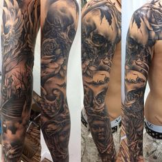 Yes! now it is done. #fullsleevetattoo #completed by Kob