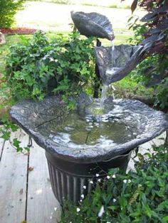 WOW! Pictures of cast cement leaf fountains to inspire you! | Irvingparkgardenclub's Blog