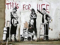 Banksy OAP thugs #graffiti #banksy