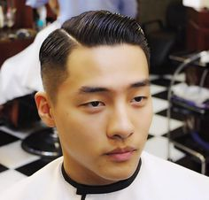 Haircut Combover Hairstyles, Side Part Hairstyles, Slick Hairstyles, Asian Man Haircut, Asian Men Hairstyle, Asian Hair, Short Mens Cuts, Short Hair Cuts, Short Hair Styles