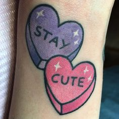 @beibadgirl inspired candy hearts on @chrissasparkles #staycute