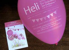 Heli   Xantifee – shop.xantifee.com    Bij een geboorte is iedereen in feeststemming daarom dit originele doe-kaartje. Vrienden en familie die dit kaartje in de bus krijgen moeten eerst de ballon opblazen voor ze de naam kunnen ontdekken. Ballonnen bijbestellen voor de babyborrel is mogelijk.
