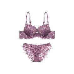 Women Bra and Panty Set Sexy Push up Lace Bra Underwear Set Solid... ($12) ❤ liked on Polyvore featuring intimates, panties, lacy panty, lace panties, push up lingerie, push up panty and lace lingerie