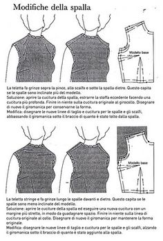 NEEDLE WORKS: Lezioni di cucito dal libro della nonna 17. PERFEZIONARE IL CARTAMODELLO.prima parte Diy Sewing Projects, Sewing Projects For Beginners, Sewing Hacks, Sewing Tutorials, Dress Sewing Patterns, Blouse Patterns, Vintage Sewing Patterns, Clothing Patterns, Sewing Alterations