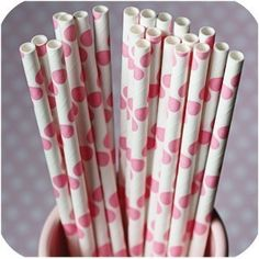 polka dot straws!