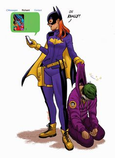 Batgirl receives a multiversal, time-travelling selfie from Dick Grayson. (REALLY excited for the new Batgirl, you guys) Batgirl Cosplay, Cosplay Dc, Batgirl Costume, Superhero Cosplay, Batgirl And Robin, Dc Batgirl, Batman Robin, Barbara Gordon, Batwoman