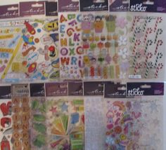 STICKO EKSuccess Scrapbook Stickers Lot Candy Canes Snowflakes Letters Sports…