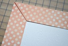 How to make perfect mitered corners for cards or scrapbooking    I  aways forget this